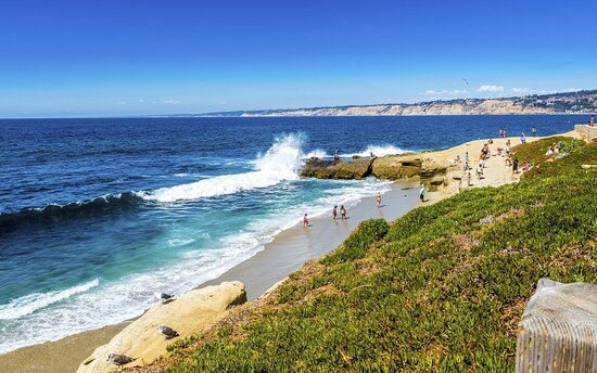 Solana Beach, CA and Del Mar, CA Beaches - steps from our hotel!