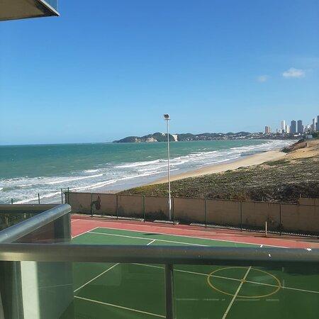 Varanda do quarto/vista lateral Praia de Ponta Negra e Morro do Careca ao fundo