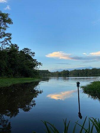 Barra de Pacuare, Costa Rica: Vista desde la terraza