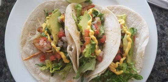 shrimp tacos at La Verandah