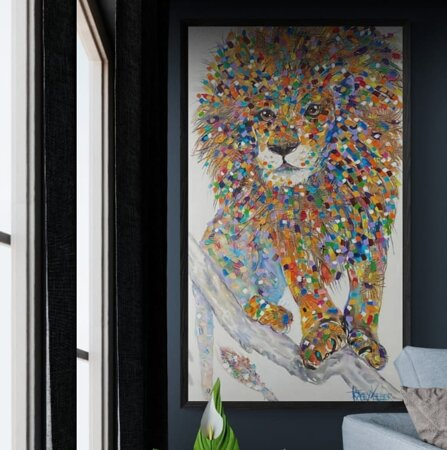 """""""Be strong enough to fight alone and wise enough to wait for your turn.""""  Tracey Keller Original Pride Acrylic, Hessian and Resin on Canvas 140cm x 80cm $4290"""