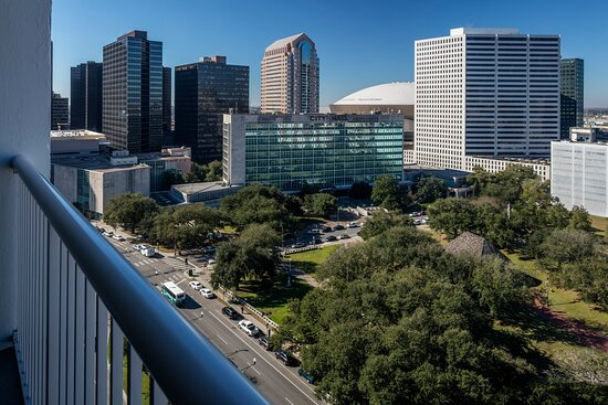 Private balcony view of the home of the New Orleans Saints