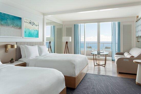 Oceanfront Double/Double High Floor Room