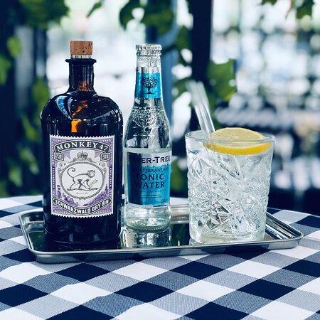Ett urval från vår gin & tonicmeny