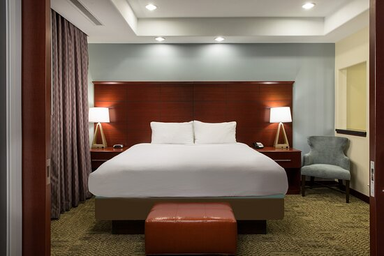 Get a good night's rest in our private bedrooms with plus bedding