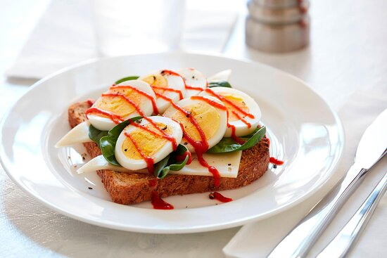 Free Breakfast - Toast with Hard Cooked Eggs