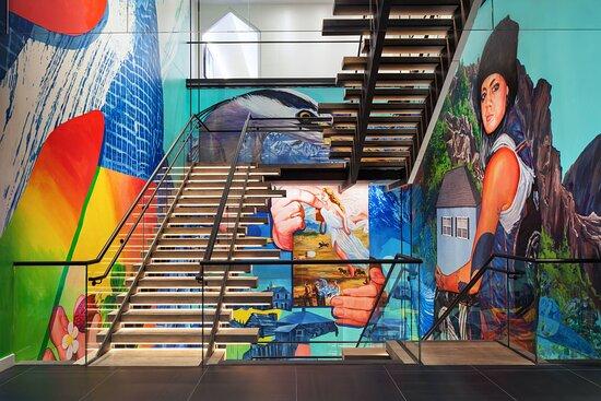 Staircase Art Mural
