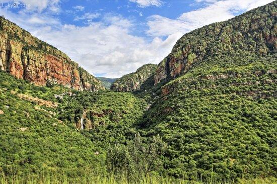 Ohrigstad, África do Sul: HDR Shot von der Passstrasse aus