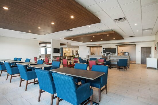 Not just a breakfast area, nightly cookie reception area too.
