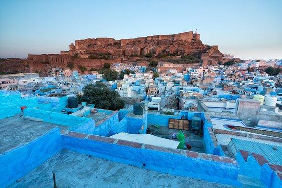 Tour Guide Tarun (Italian/English/ Hindi): Jodhpur, al tramonto da una terrazza privata