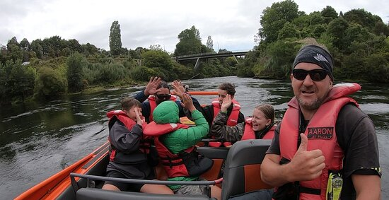 Extreme Jet Boat Tour - 45 minutes: The end of the tour, smiles all round