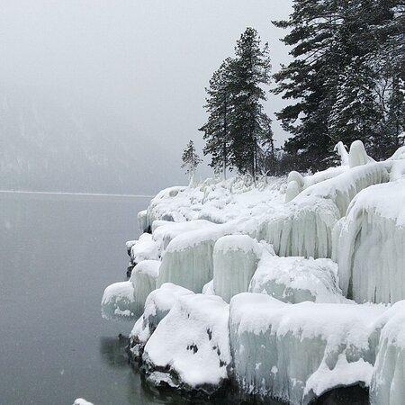 Lake Teletskoye, Rosja: Телецкое озеро в нашем путешествии. Январь 21 г.