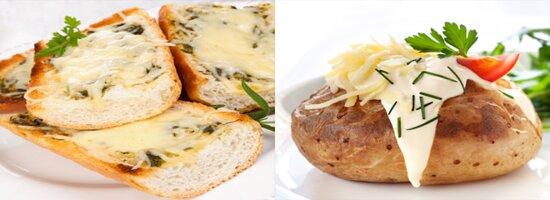 Backkartoffel ,Brot