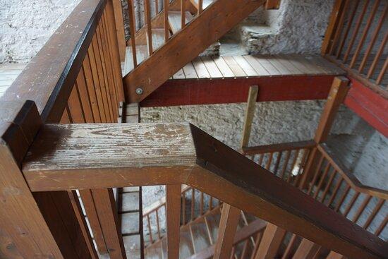 Бакарах, Германия: Stairs of the watchtower.