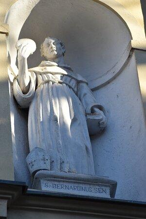 statue on facade