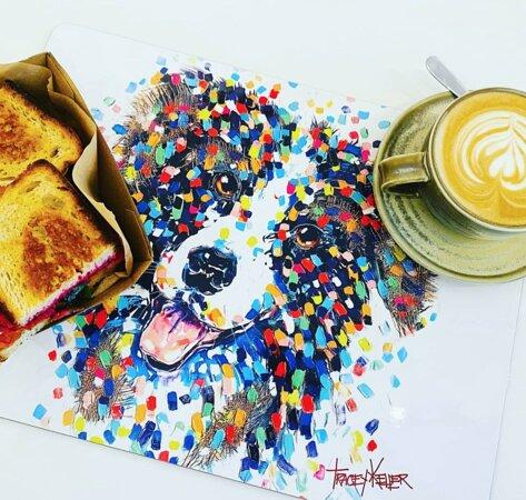 Coffee + TK art = Happy day! xx