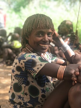 Turmi, Ethiopia: Hamer tribe woman during a bull jumping rite of manhood festival. These are the most soulful people you could ever meet in this part of the world. Come and explore the untouched originality and take a bag full of smiles and pure happiness back home. One love