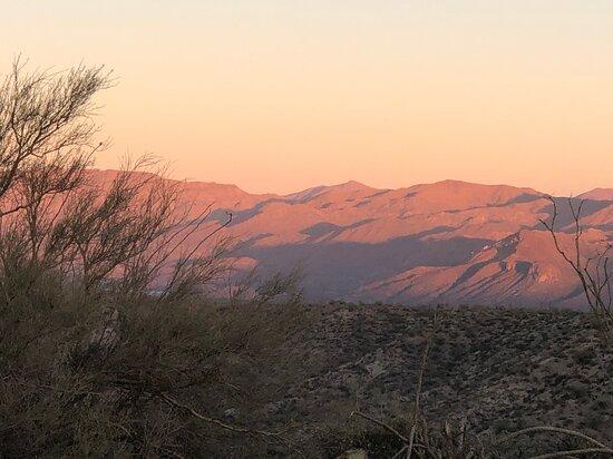 Sonoran Desert Jeep Tour at Sunset: Mountain view