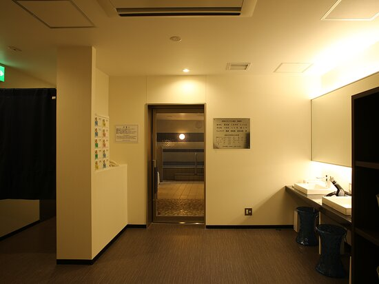 大浴場(男性用)脱衣所 PM3:00~深夜1:00 AM6:00~AM10:00