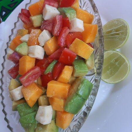 Mango cheese Avocado  salad yum yum