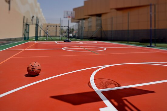 Recreational Facility with basketball court to play a match
