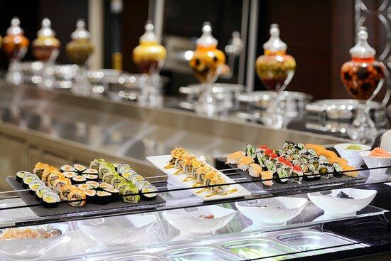 Horizon Asian Night buffet. Premium quality sushi and Asian food