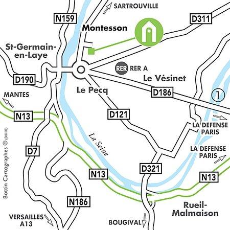Campanile Montesson Paris Ouest MAP