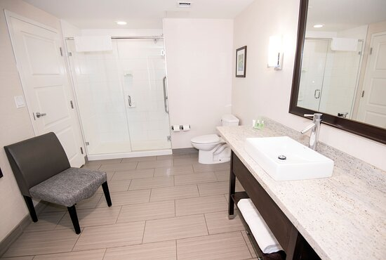 Reenergized with a refreshing shower in our spacious bathroom