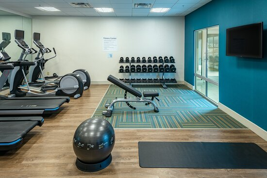 Keep you fitness routine in our large, modern fitness center.