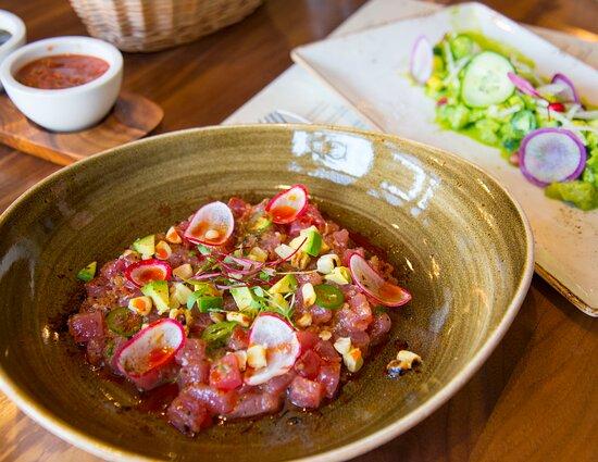 Ceviche aplenty awaits at Santo Mezcal. Try the Ahi and Verde!