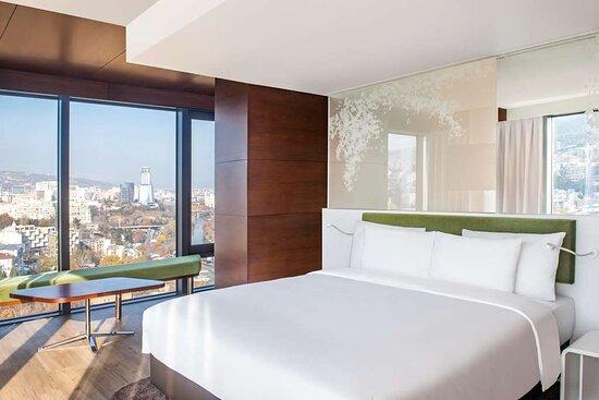 Premium room with panoramic city view
