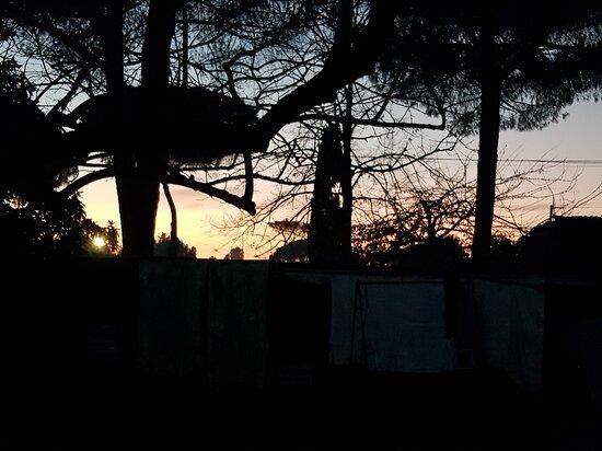 Rome, Italy: 18 Dicembre: il tramonto all'Infernetto
