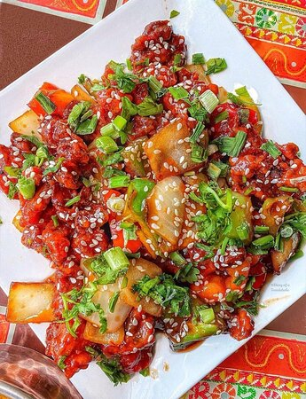 Mouth watering Chilli Chicken