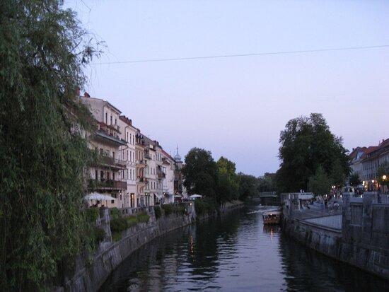 Ljubljana, Slovénie : Serata estiva a Lubiana