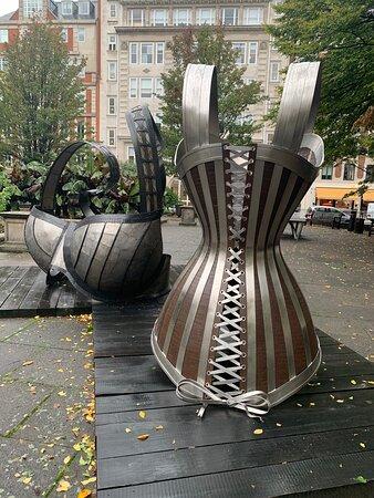 Soho:  sculptures in Golden Square