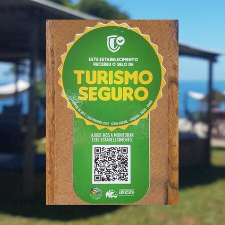 Somos certificados com o Selo Turismo Seguro.