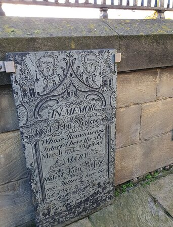 John Roscoe Tombstone in Our Lady And St Nicholas Church Gardens