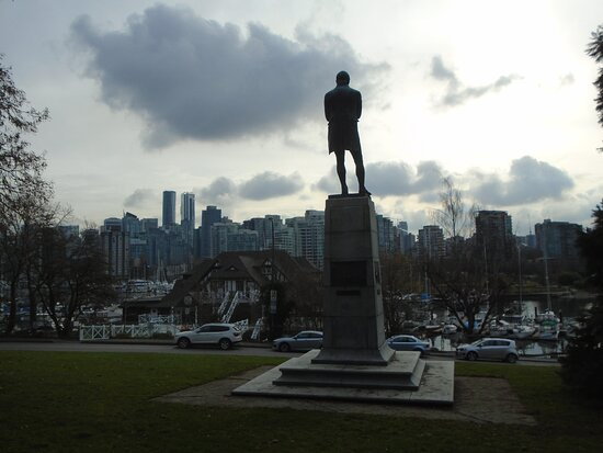 Burns looking over downtown