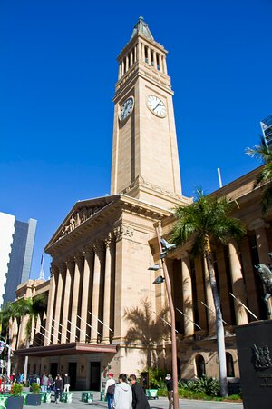 You can see the Tower Clock from King George Square All rights and copyrights of this photo are all mine.