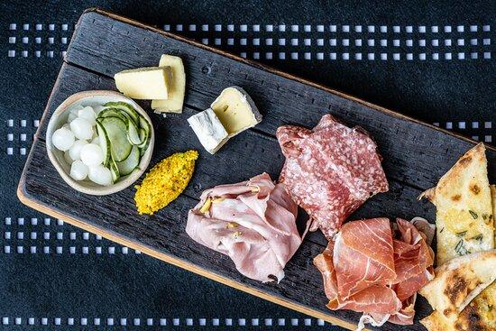 AFFETATTI - Italian cured meats, cheese, pickles, flat bread, house made grain mustard