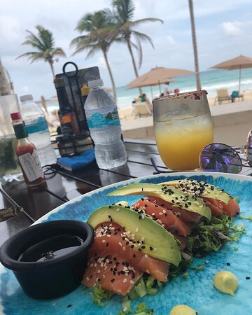 This Salmon Sashimi is the best served at the Heaven Beach Bar