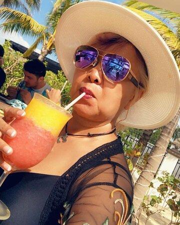 The Mango Tango Drink at the Heaven Beach Bar