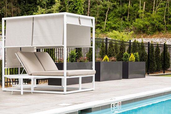 Outdoor Pool Cabanas