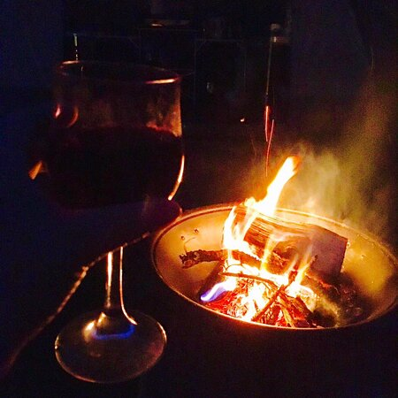 Fire pits and BBQs can be enjoyed, and marshmallows are available from our shop!