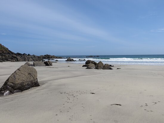 A lovely beach off the beaten track.
