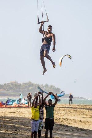 Optimal has the best kitesurfing instructors in kitebeach Cabarete.