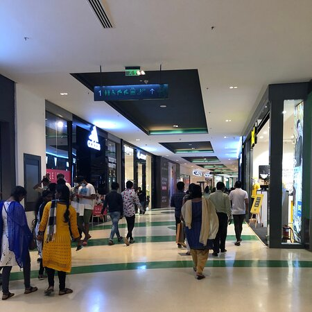 Big Mall, lots of stores include local and international brands. A very huge food court in one mall. Lots of food choices
