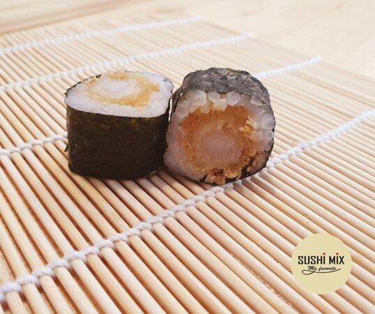 Maki tempura de langostinos