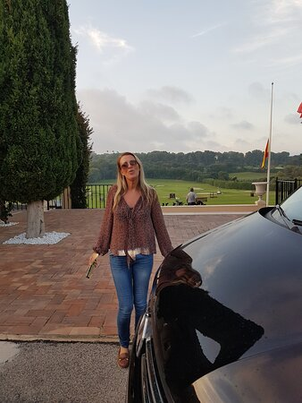 Málaga, España: When Debra's not in the office, she can be found collecting golfers from around any of the many golf courses the costa del sol has to offer. Todays trip Real Club Valderrama, home of 1997 Ryder Cup, home of 16 VOLVO Masters.