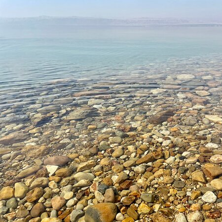 Dead Sea Beach the lowest point of the earth